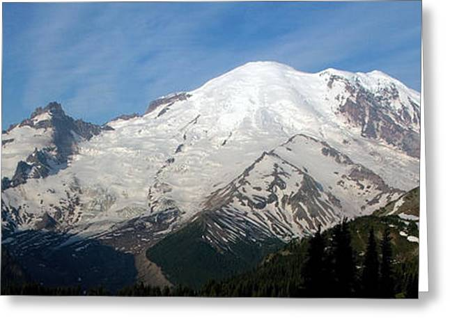 Greeting Card featuring the photograph Mount Rainier From Sunrise by Bob Noble Photography
