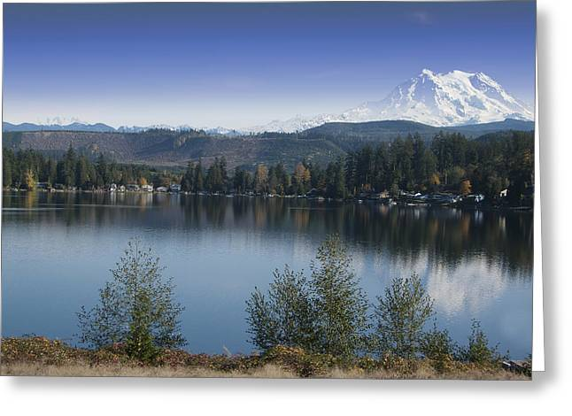 Mount Rainier In The Fall Greeting Card