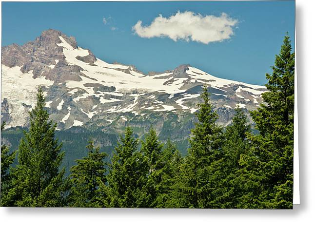 Mount Rainier, Snow Covered, Road Greeting Card