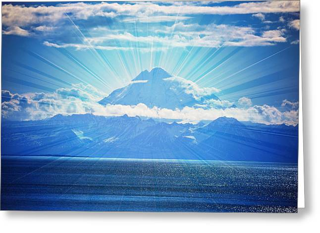 Mount Redoubt Amazing Landscape Greeting Card