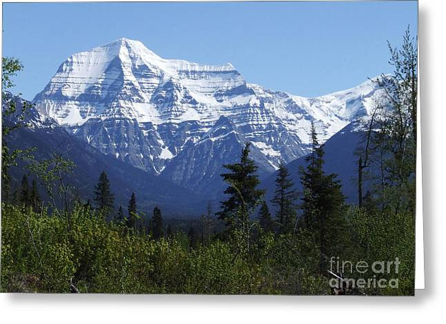 Greeting Card featuring the photograph Mount Robson - Canada by Phil Banks