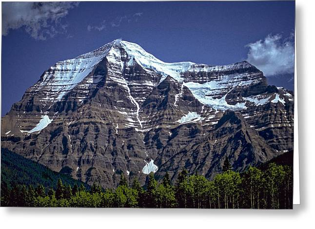 Greeting Card featuring the photograph Mount Robson by Richard Farrington