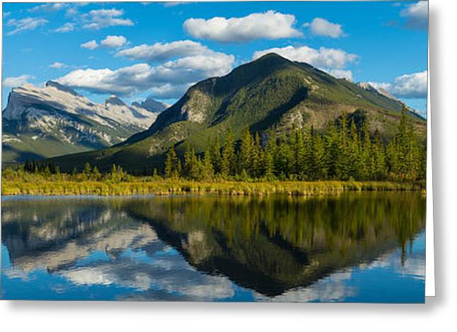 Mount Rundle And Sulphur Mountain Greeting Card