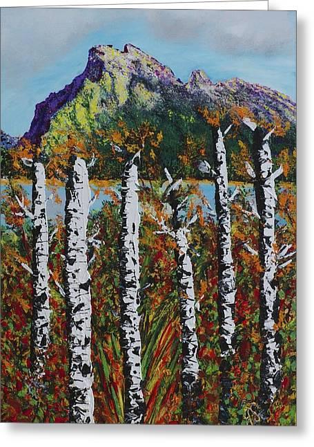 Mount Rundle Banff Alberta Greeting Card by Joyce Sherwin