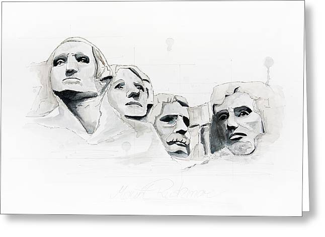 Mount Rushmore Greeting Card by Astrid Rieger
