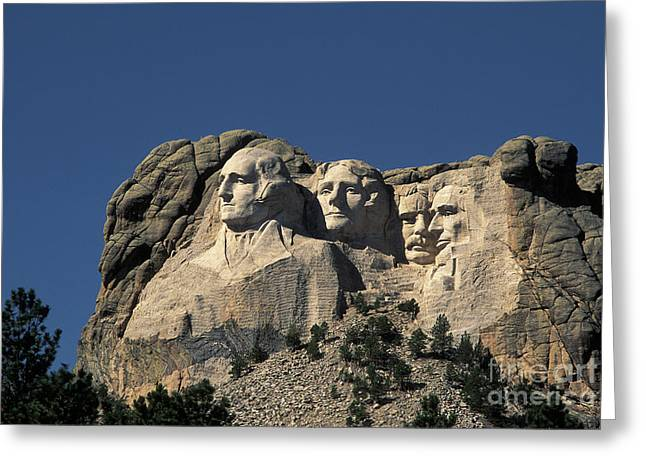 Mount Rushmore National Memorial Greeting Card by Ron Sanford