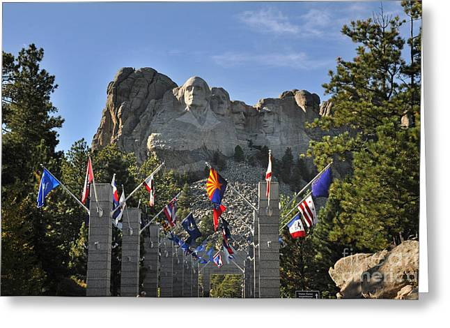 Mount Rushmore Greeting Card by Nava Thompson
