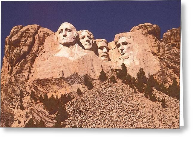 Mount Rushmore Red Greeting Card