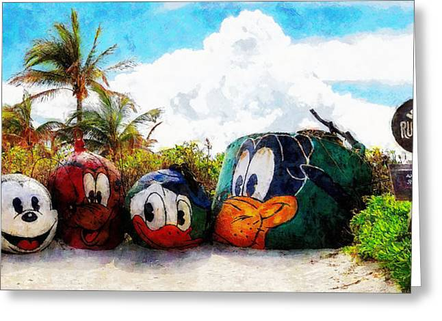 Mount Rustmore Castaway Cay Greeting Card