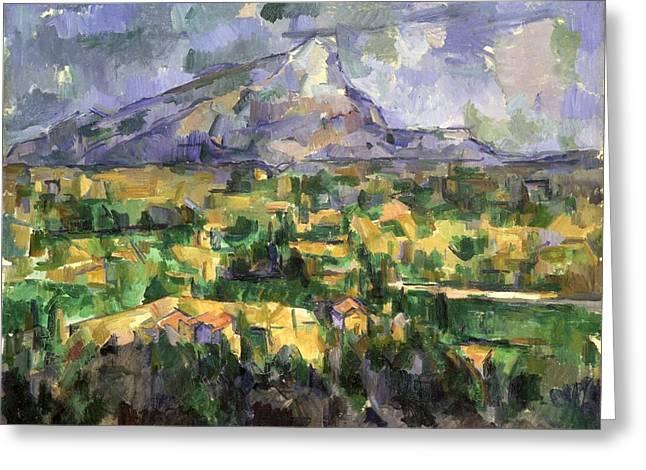 Mount Sainte-victoire Greeting Card by Paul Cezanne