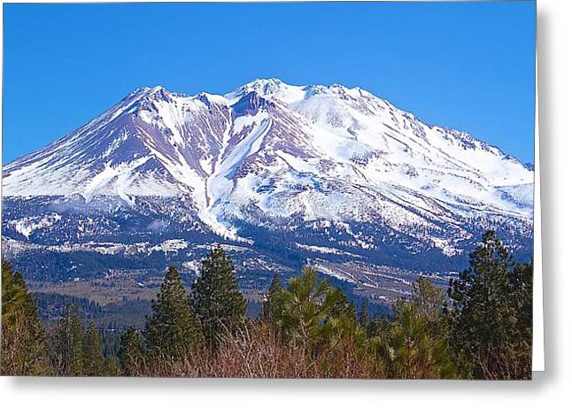 Greeting Card featuring the photograph Mount Shasta California February 2013 by Michael Rogers