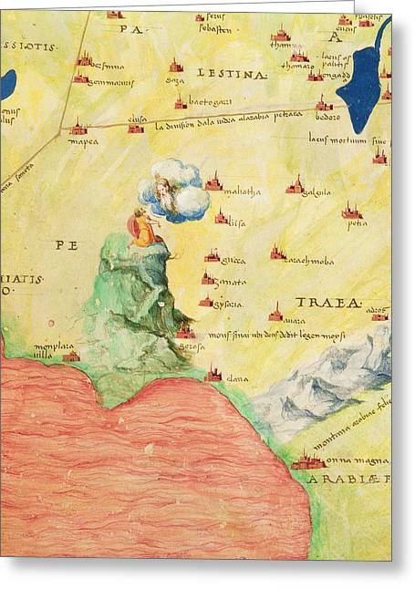 Mount Sinai And The Red Sea, From An Atlas Of The World In 33 Maps, Venice, 1st September 1553 Ink Greeting Card