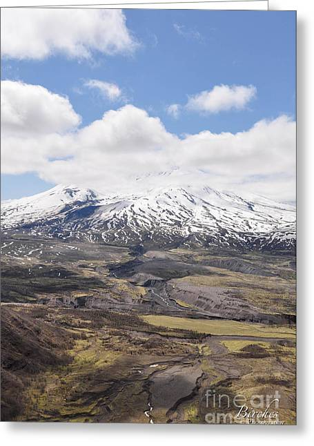 Mount St. Helens Greeting Card by Birches Photography