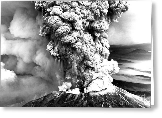 Mount St Helens Eruption Greeting Card by Usgs