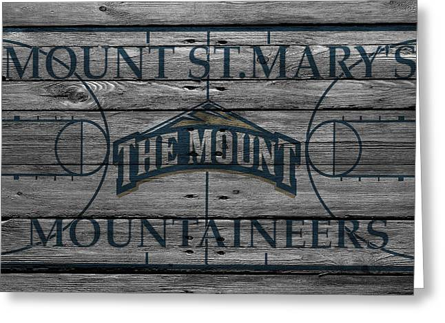 Mount St Marys Mountaineers Greeting Card by Joe Hamilton