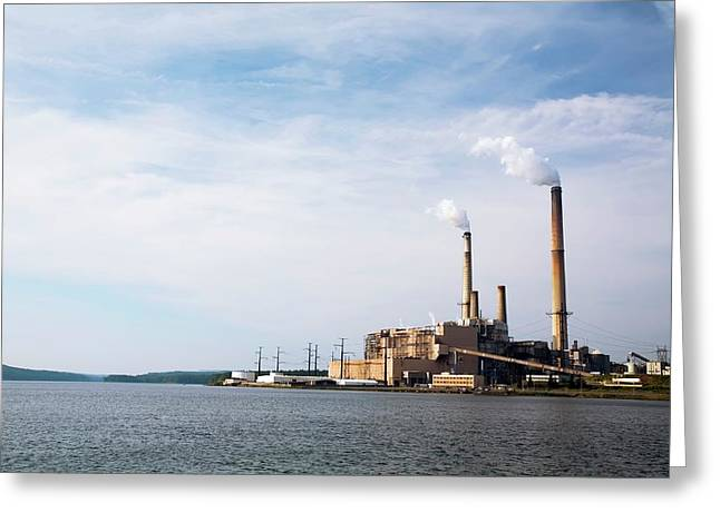 Mount Storm Power Station Greeting Card by Jim West