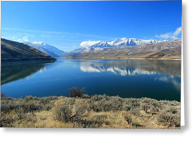 Mount Timpanogos From Deer Creek Greeting Card by Johnny Adolphson