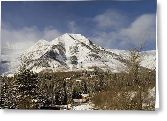 Mount Timpanogos Panorama Greeting Card by Scott Pellegrin