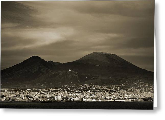 Mount Vesuvius 2012 Ad Greeting Card by Terence Davis