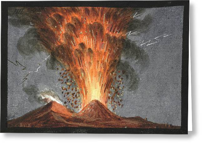 Mount Vesuvius Greeting Card
