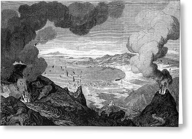 Mount Vesuvius Erupting Greeting Card