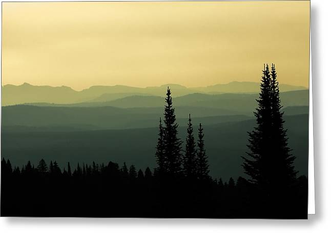 Mount Washburn Mist Greeting Card