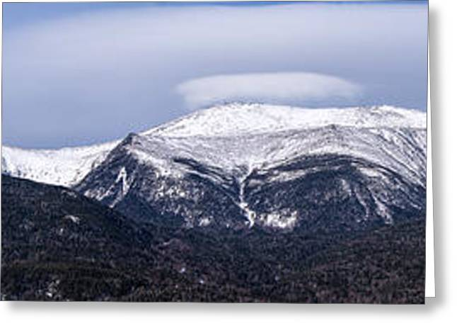 Mount Washington And The Ravines Winter Pano Greeting Card