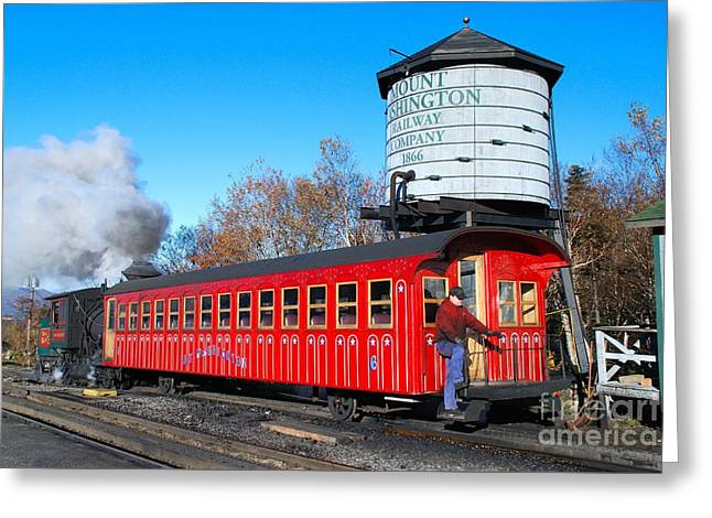 Mount Washington Cog Railway Car 6 Greeting Card
