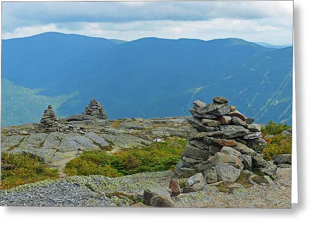Mount Washington Rock Cairns Greeting Card