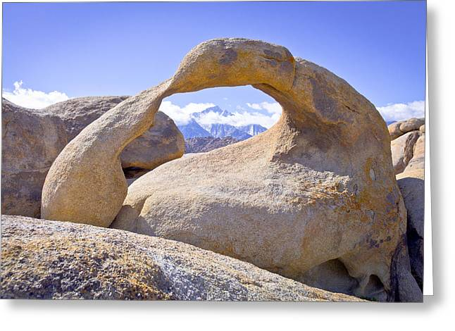 Mount Whitney Framed By The Mobius Arch Greeting Card by Priya Ghose