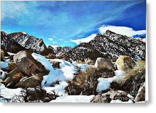 Mount Whitney Vista Greeting Card by Glenn McCarthy Art and Photography