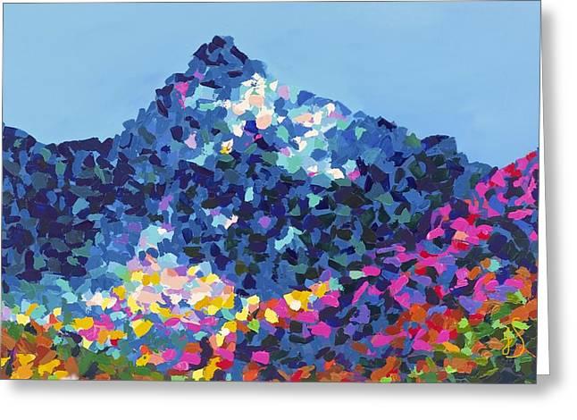 Mountain Abstract Jasper Alberta Greeting Card by Joyce Sherwin