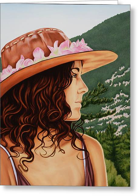Mountain Beauty Greeting Card by Charles Luna