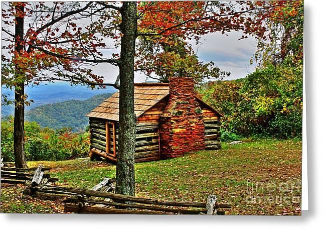 Mountain Cabin 1 Greeting Card by Dan Stone