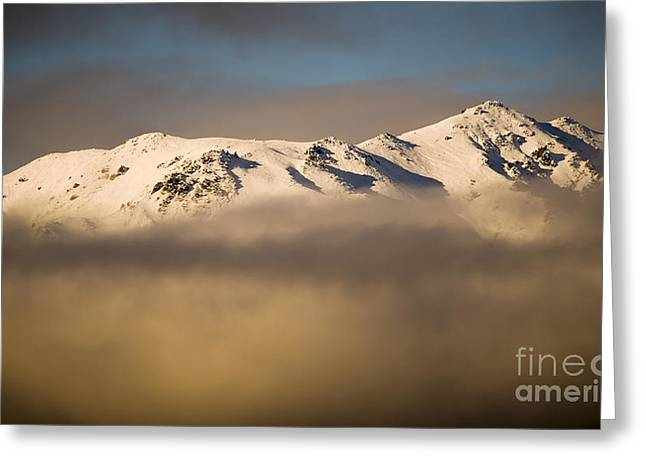 Mountain Cloud Greeting Card by Tim Hester