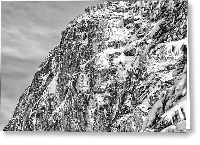 Mountain Covered In Snow Greeting Card by Brandon Bourdages
