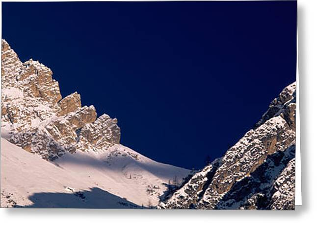 Mountain Covered With Snow, Dolomites Greeting Card