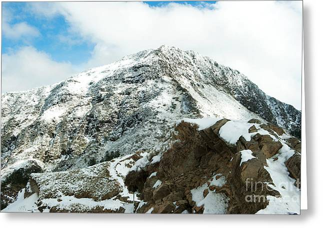 Mountain Covered With Snow Greeting Card