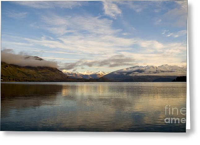 Mountain Dawn Greeting Card by Tim Hester