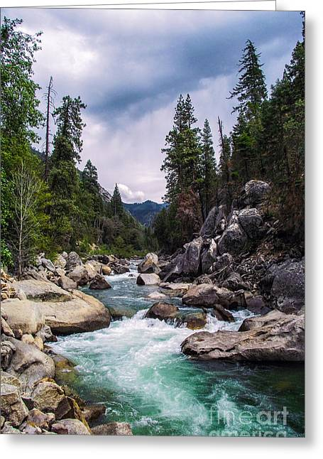 Mountain Emerald River Photography Print Greeting Card