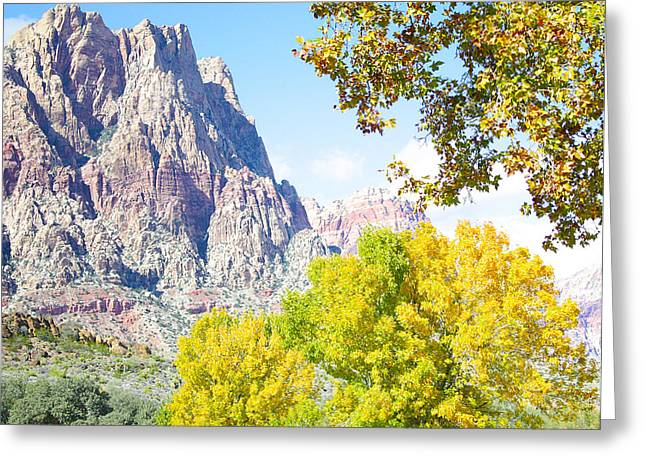 Mountain Fall Delight Greeting Card