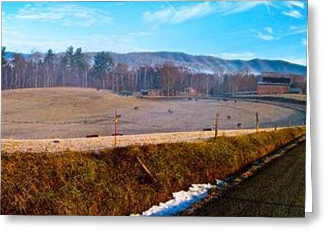 Mountain Farm Panorama Version 2 Greeting Card