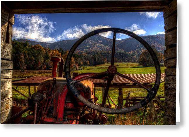 Mountain Farm View Greeting Card by Greg and Chrystal Mimbs