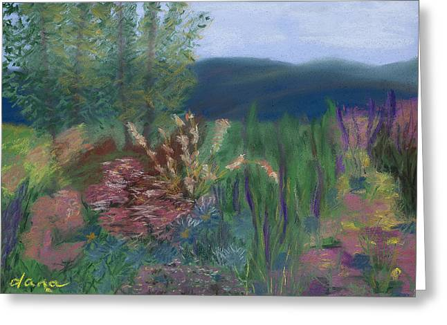 Mountain Garden Greeting Card by Dana Strotheide