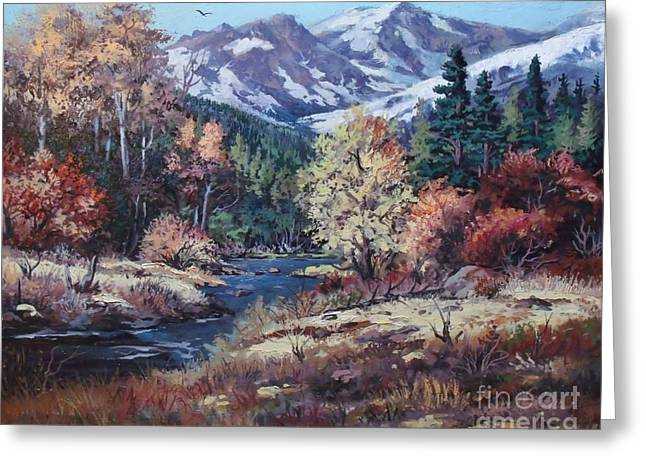 Mountain Glory Greeting Card by W  Scott Fenton