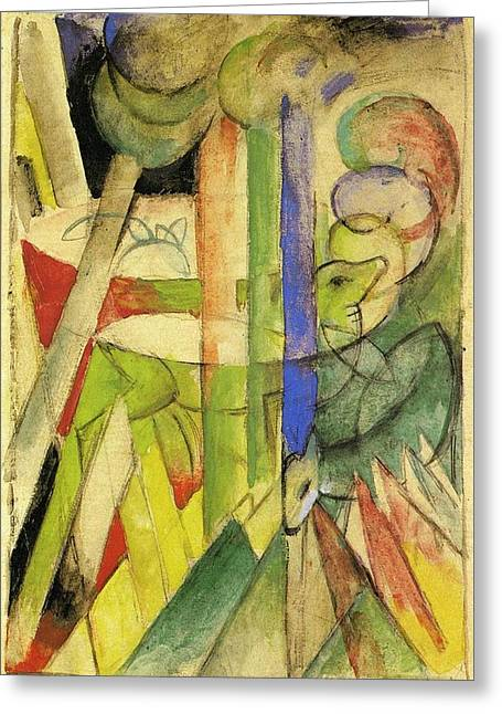 Mountain Goats 1914 Greeting Card by Franz Marc