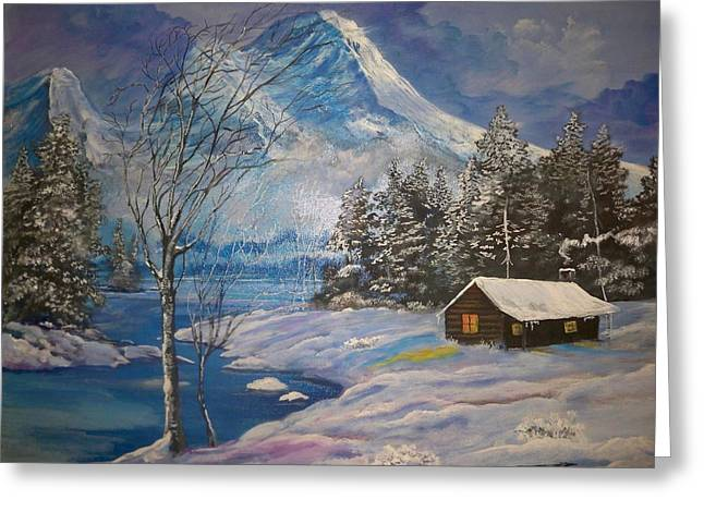 Mountain Hideaway Greeting Card