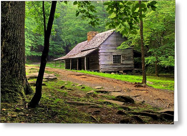 Mountain Hideaway Greeting Card by Frozen in Time Fine Art Photography