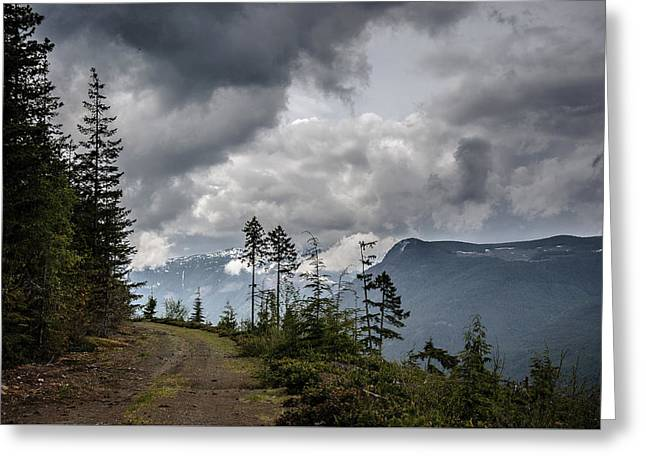 Mountain High Back Roads Greeting Card