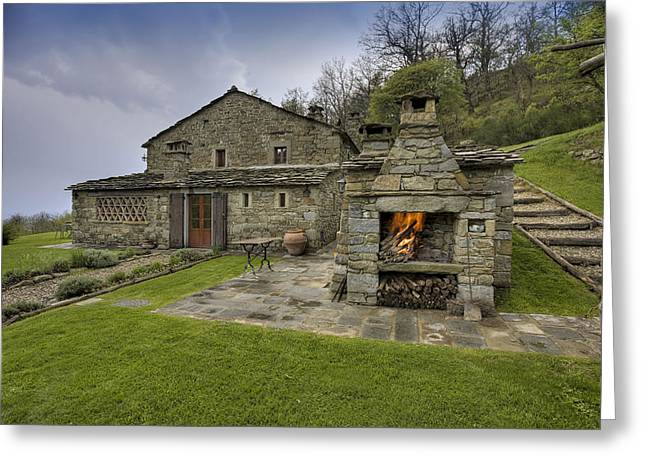 Mountain House Greeting Card by Al Hurley